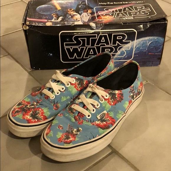 39aeeb6053 Star Wars Yoda Aloha Vans Shoes. M 5b5a0c56dcfb5a51b65a0cde